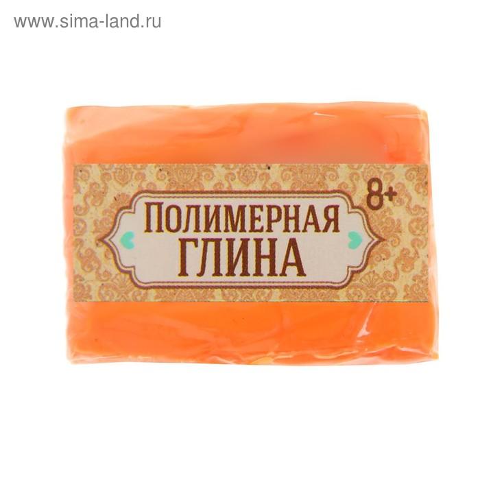 Полимерная глина 20 гр, цвет неон нежно-оранжевый