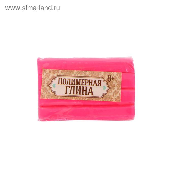 Полимерная глина 20 гр, цвет неон розовый