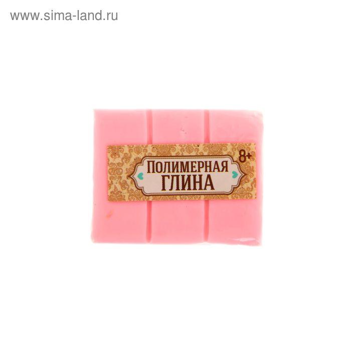 Полимерная глина 30 гр, цвет люминесцентный нежно-розовый