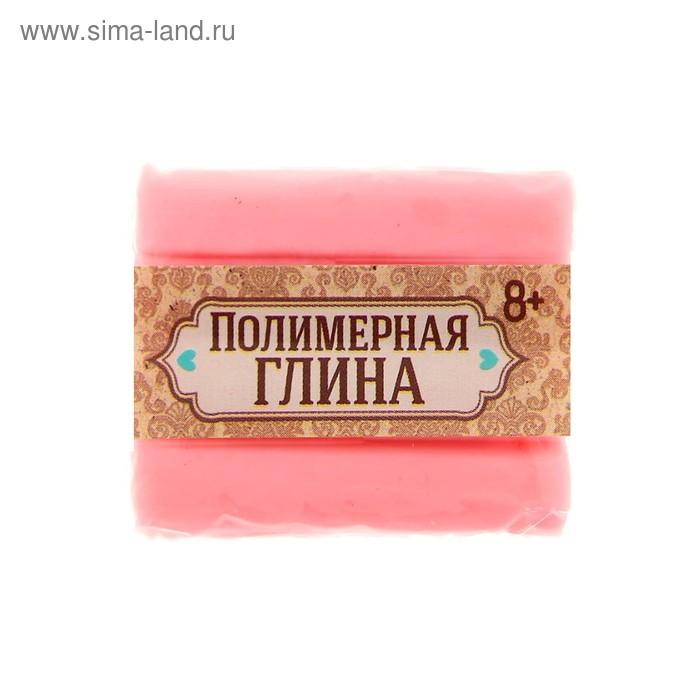 Полимерная глина, 15 гр, цвет люминесцентный нежно-розовый