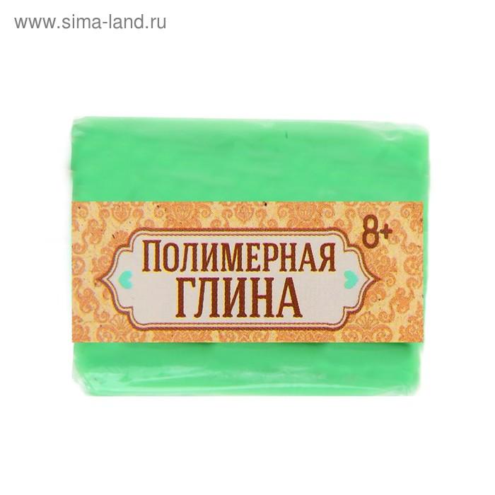 Полимерная глина, 15 гр, цвет люминесцентный зеленый