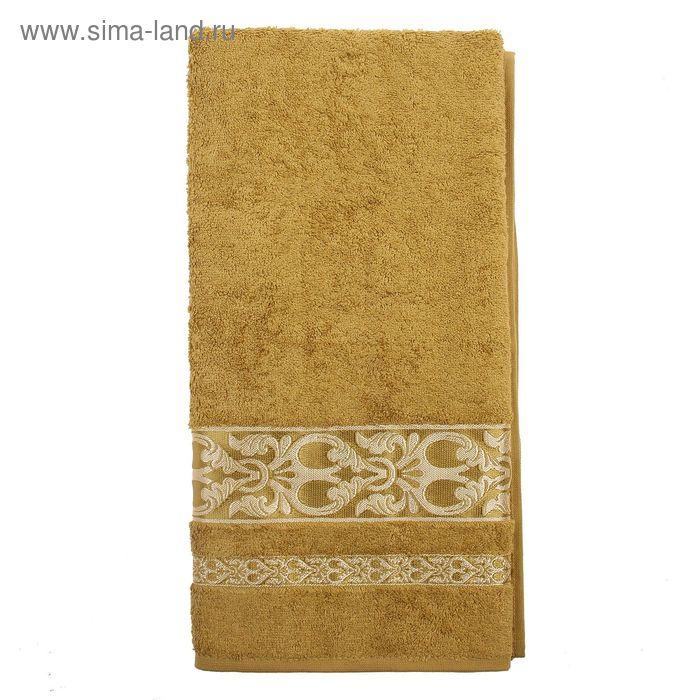 Полотенце DO&CO ELANOR 70*140 см фисташковый, бамбук, 460 гр/м