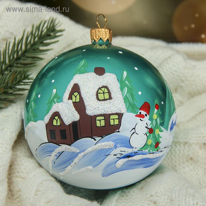 """Новогодний шар ручной работы """"Рождественский"""" микс"""