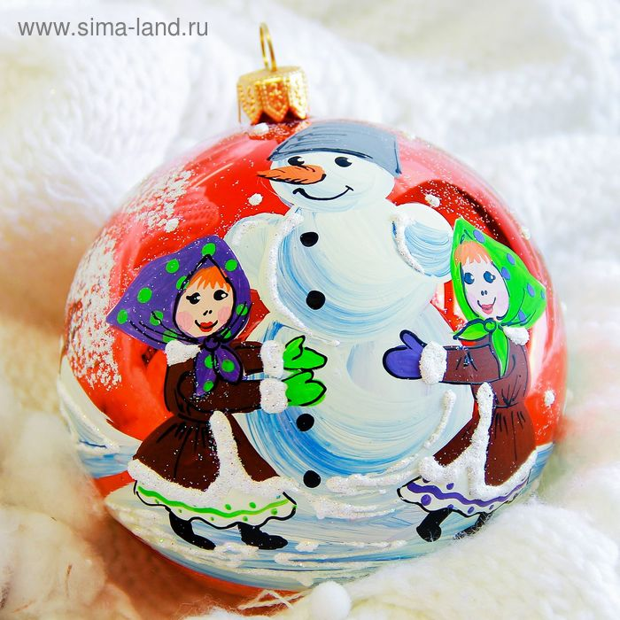 """Новогодний шар ручной работы """"Весёлая зима"""" микс"""