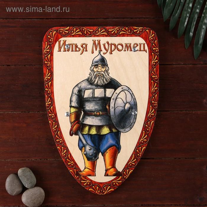 Деревянный щит «Богатырь» 21х30 см