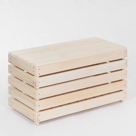 Скамья с ящиком, 80×40×45см, из липы