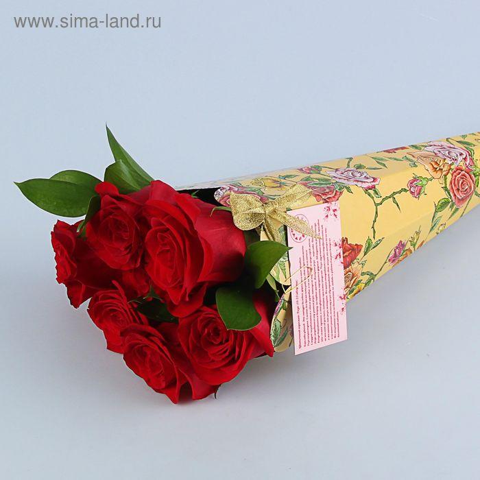 """Конус для цветов """"Роза плетистая"""" серия цветы, 27х13 см"""