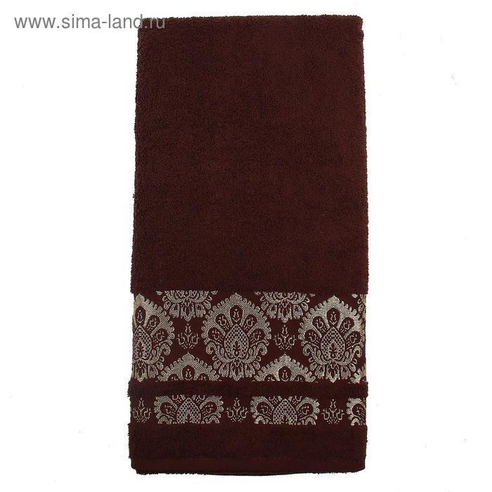 Полотенце махровое DO&CO SIRMA SOFT 50*90 см шоколадный, хлопок, 460 гр/м