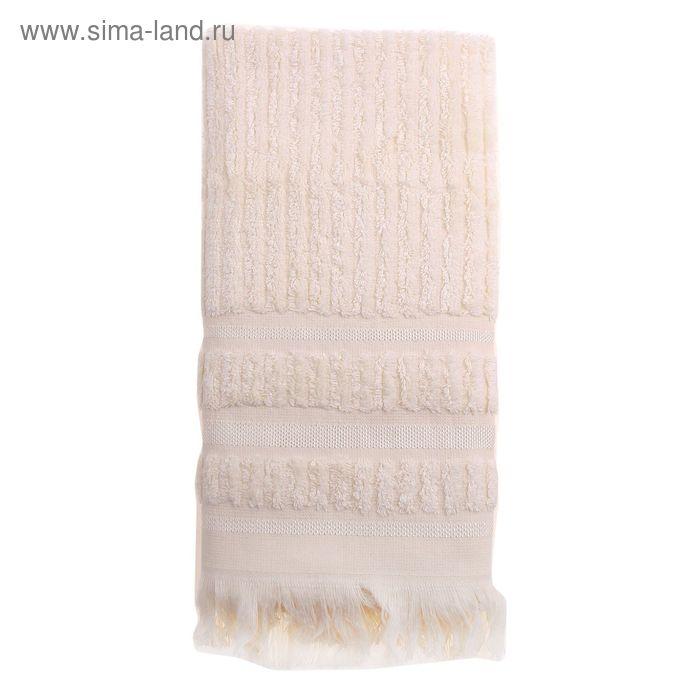 Полотенце DO&CO MELISSA 70*140 см кремовый, бамбук, 460 гр/м