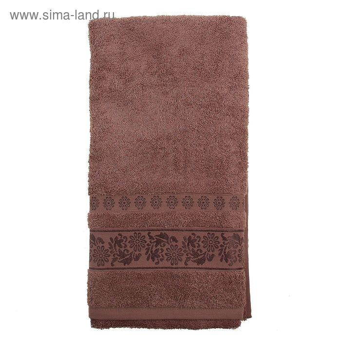 Полотенце махровое TWO DOLPHINS ILAYDA 70*140 см коричневый, хлопок, 460 гр/м