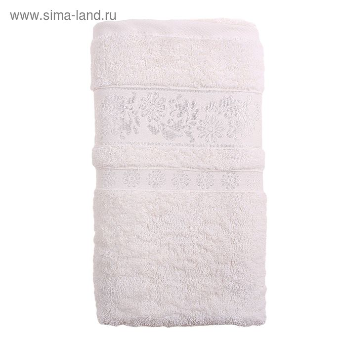 Полотенце махровое TWO DOLPHINS ILAYDA 70*140 см кремовый, хлопок, 460 гр/м