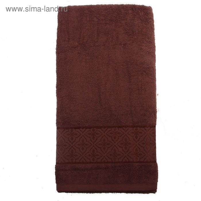 Полотенце махровое TWO DOLPHINS LEMISA 50х90 см коричневый, хлопок, 460 гр/м