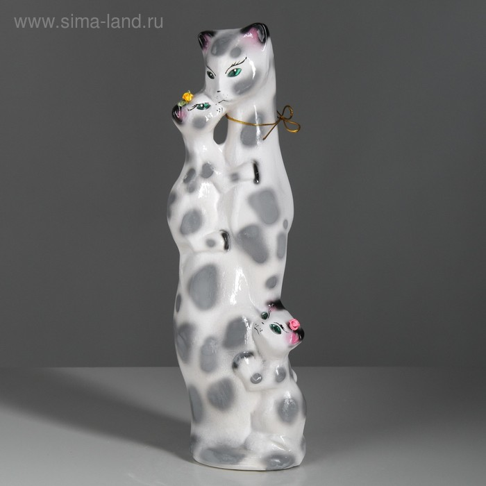 "Копилка ""Багира мама"" средняя, глянец, белый леопард"