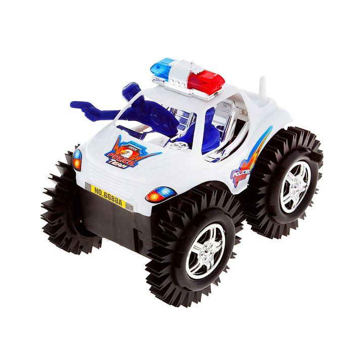 """Машина-перевертыш """"Полиция"""", работает от батареек В ПАКЕТЕ"""