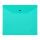 Папка-конверт на кнопке А5 180мкм, зеленая