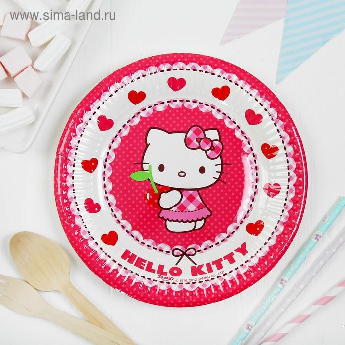 "Тарелки ""Хэллоу-Китти""  20 см (набор 8 шт) / Hello Kitty Hearts"