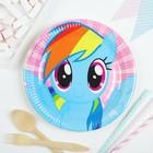"""Тарелки """"Моя маленькая Пони""""  23см (набор 8 шт) / Rainbow Pony"""