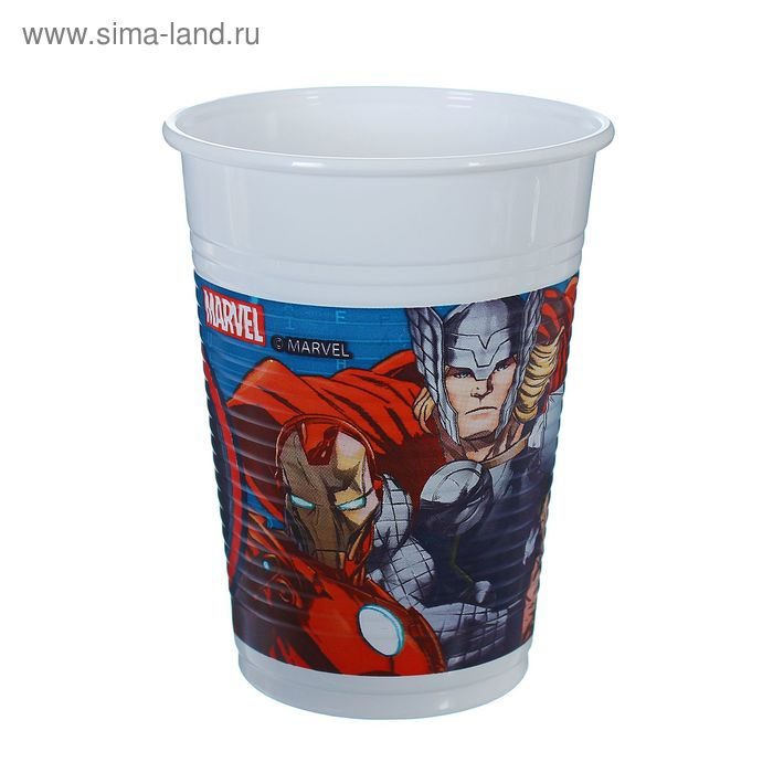 "Стаканы пластиковые ""Мстители"" 200 мл (набор 8 шт) / Avengers Power"