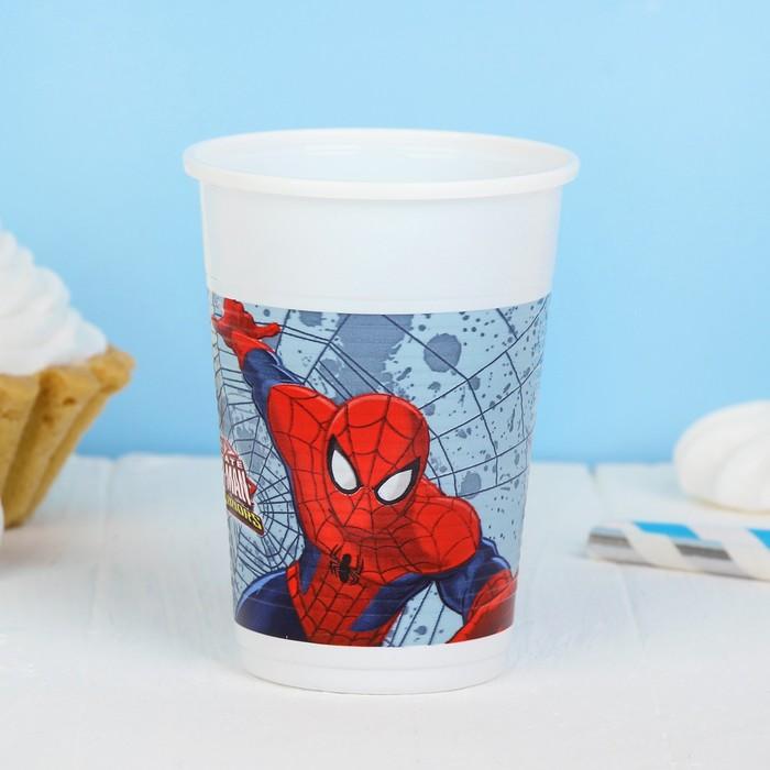 "Стаканы пластиковые ""Человек-паук"", 200 мл, набор 8 шт., Ultimate Spiderman Web Warriors"