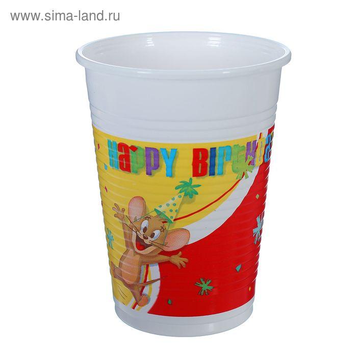 """Стаканы пластиковые """"Том и Джерри""""  200 мл (набор 8 шт) / Tom and Jerry"""