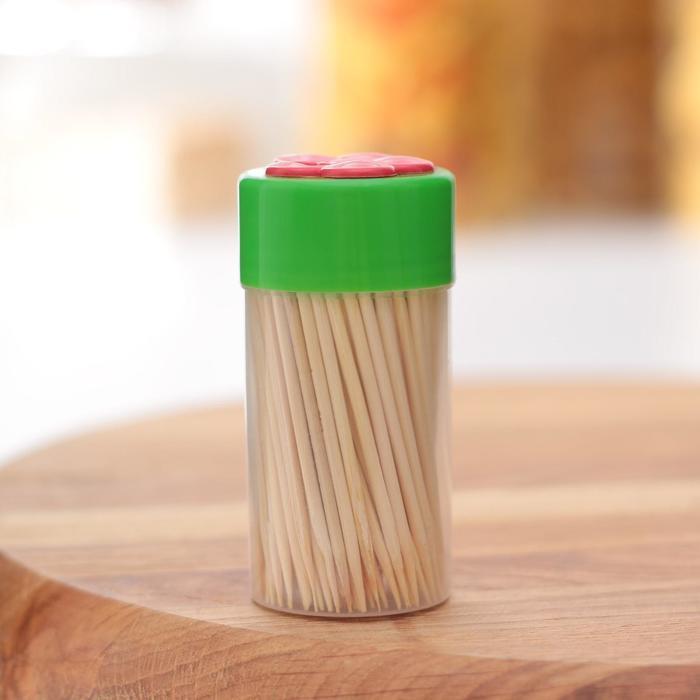 Зубочистки «Цветок», 150 шт, цвет МИКС