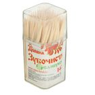 Зубочистки 140-150 шт в пластиковой баночке - фото 147977543