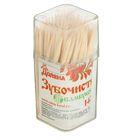 Зубочистки 140-150 шт в пластиковой баночке