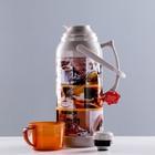 "Термос ""Coffee"" 3.2 л, кнопка, 1 кружка, микс, 21х44.5 см - фото 1966225"