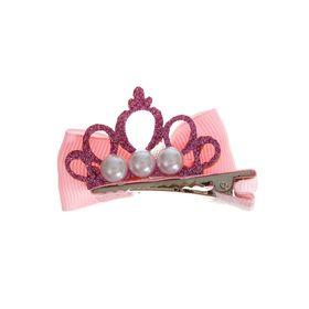 Карнавальный зажим «Бантик с короной», набор 2 шт., цвета МИКС