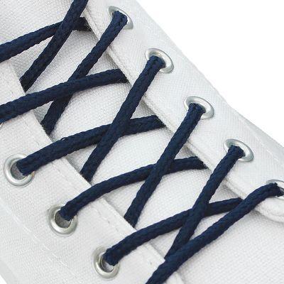 Шнурки для обуви, d = 3 мм, 120 см, пара, цвет синий