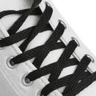 Шнурки для обуви плоские, 7 мм, 160 см, цвет чёрный