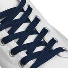 Шнурки для обуви плоские, ширина 7мм, 120см, цвет синий