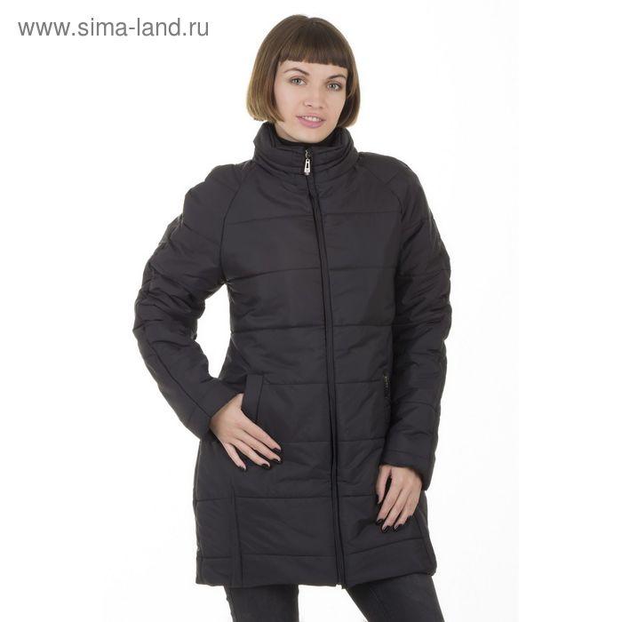 Куртка женская, размер 50, рост 168, цвет черный (арт. 71 С+)