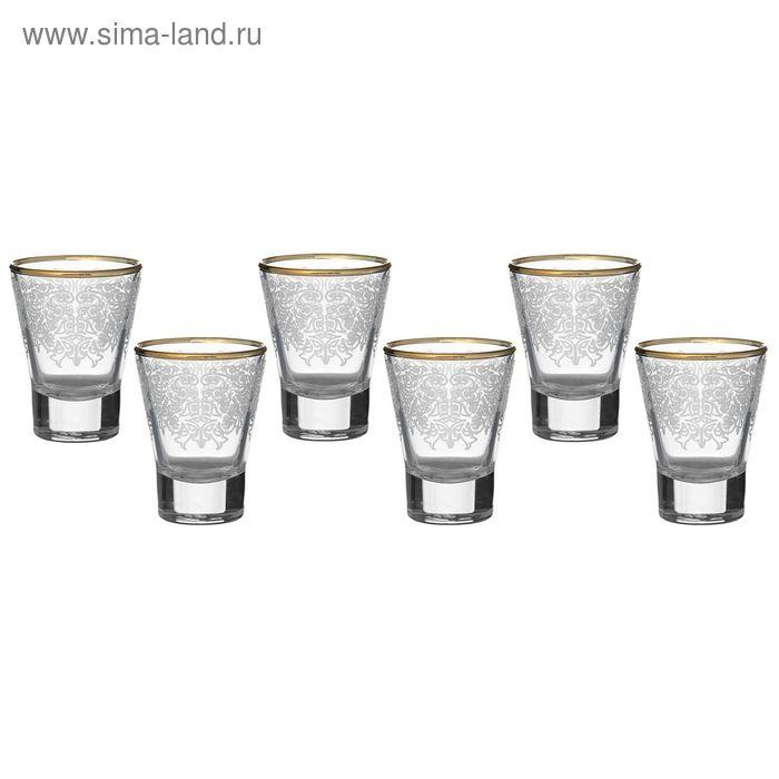 """Набор стопок 50 мл """"Боярский"""", 6 шт, гравировка, отводка золотом"""
