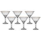 "Набор бокалов для мартини 170 мл ""Винтаж"", 6 шт, гравировка, отводка золотом"