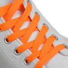 Шнурки для обуви плоские, ширина 12мм, 120см, цвет неон оранжевый