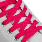 Шнурки для обуви плоские, ширина 12мм, 120см, цвет неон розовый