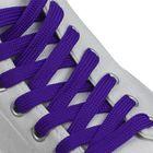 Шнурки для обуви плоские, ширина 12мм, 120см, цвет неон фиолетовый