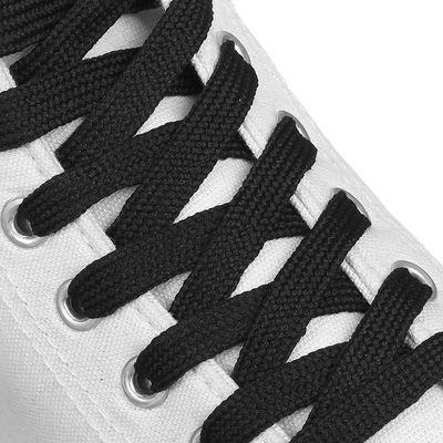Шнурки для обуви плоские, ширина 12мм, 180см, цвет чёрный