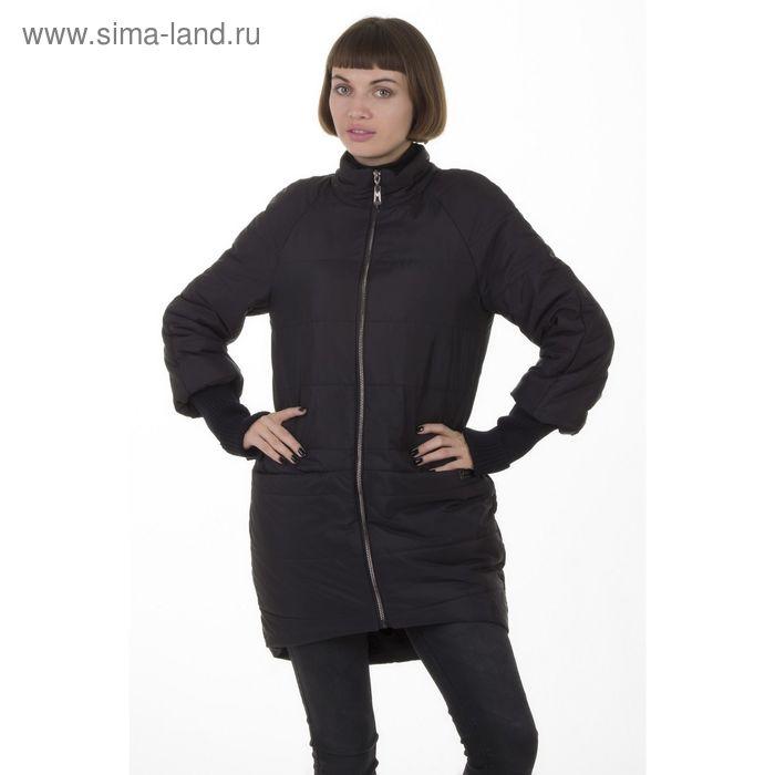 Куртка женская, размер 44, рост 168, цвет черный (арт. 53)