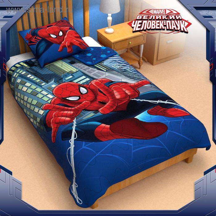 """Покрывало панно 1,5 сп """"Человек паук"""" 140*205 см п/э волокно, поплин"""
