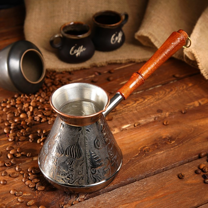 Турка для кофе медная «Москва Златоглавая», 0,75 л - фото 1662681