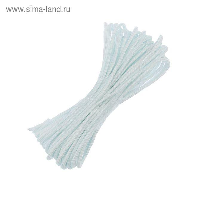 Шнур плетеный 20 м с сердечником d=6 мм