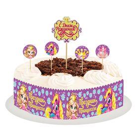 """Набор для украшения торта """"Праздник принцессы"""""""