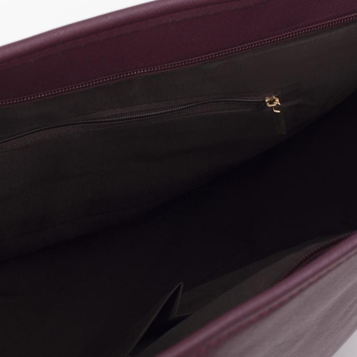 Сумка женская на молнии, 1 отдел, цвет бордовый