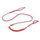 Ринговка, удавка до 45 см, поводок 100 см, красная