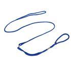 Ринговка, удавка до 45 см, поводок 100 см, синяя