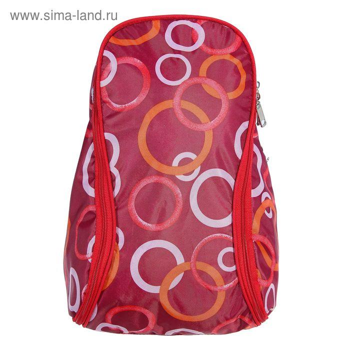 Рюкзак молодёжный на молнии, 1 отдел, 2 наружных кармана, красный