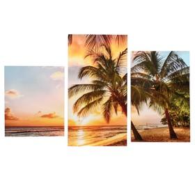 """Картина модульная на подрамнике  """"Пальмы"""" 30х35,30х46,30х56 см; 90х56 см"""