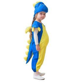 """Карнавальный костюм """"Дракончик"""", шапка, комбинезон, набивной живот, 3-5 лет, рост 104-116 см"""